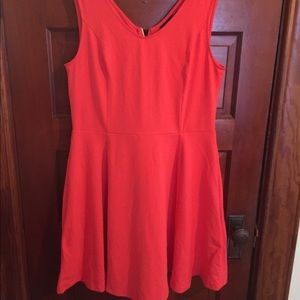 Orange fit and flare dress XL